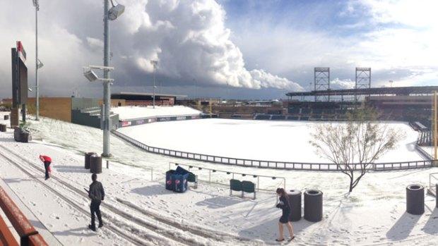 Video: ¡Insólito! Nieve en Phoenix