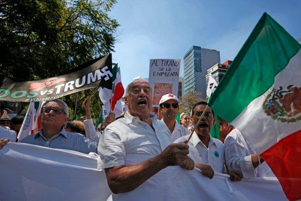 Marchas masivas: mexicanos se plantan y piden respeto a Trump