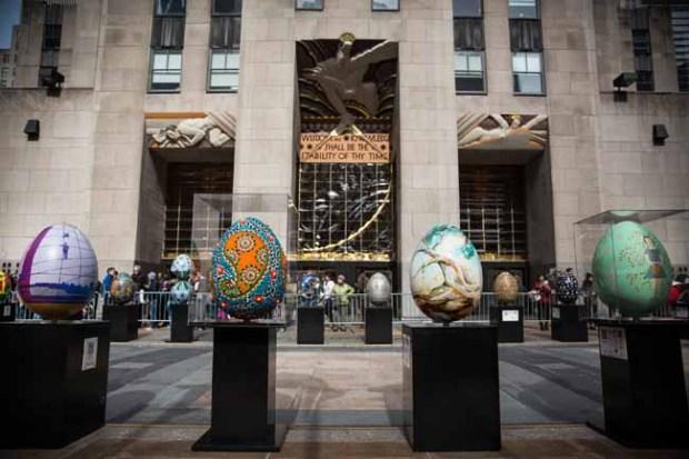 Gigantesco huevos de pascua en NYC