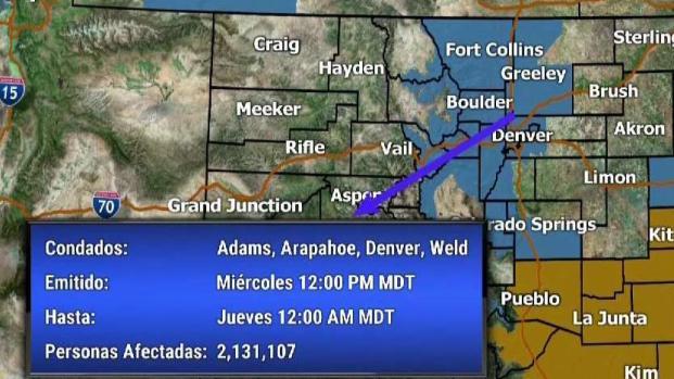 [TLMD - Denver] Se espera fuerte ventizca en Colorado