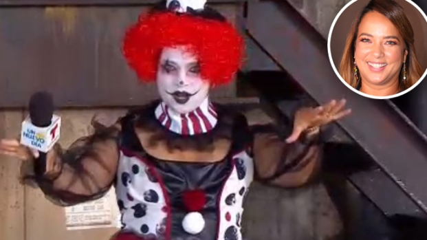 [TLMD - LV] Payasa asesina: el espeluznante disfraz de Adamari para Halloween