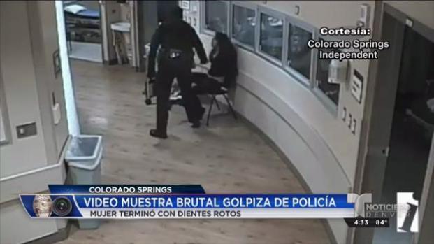 Video muestra brutal golpiza de policía