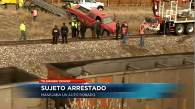 Arrestan a conductor de camioneta robada