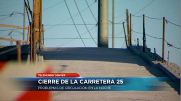 Demoras de tráfico por cierre de la I-25