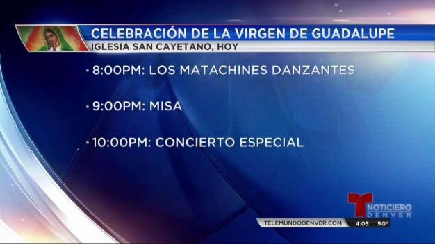 Empiezan las celebraciones de la virgen de Guadalupe