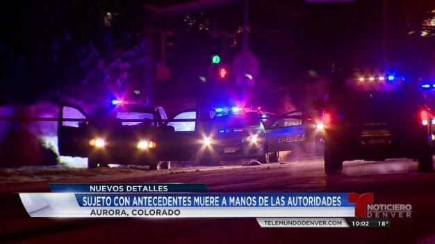 Policía de Aurora abate sospechoso
