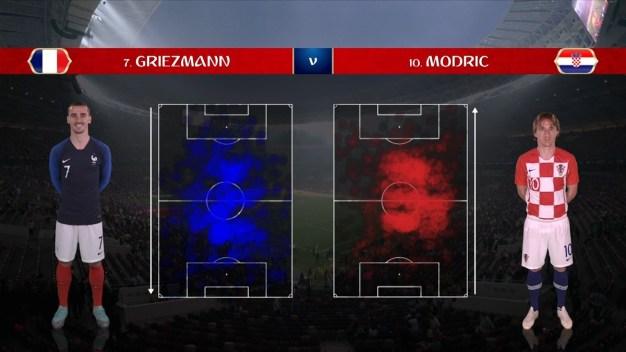 Griezmann le ganó la batalla a Modric