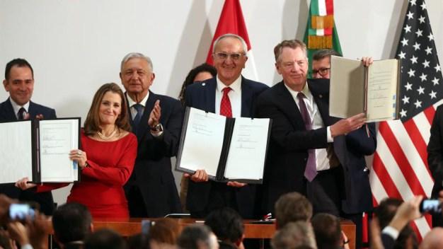 EEUU, México y Canadá firman acuerdo comercial T-MEC