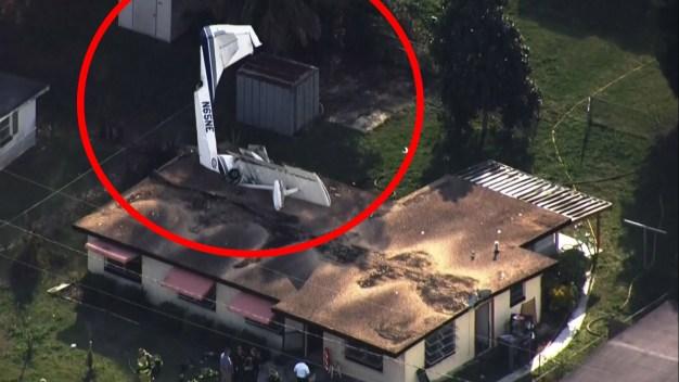 Accidente en Florida: avioneta cae en casa llena de gente