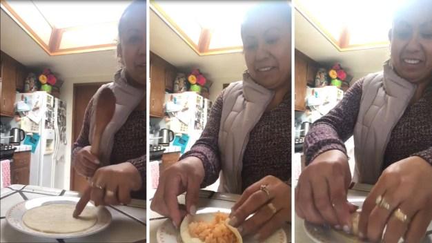 Viral: madre enseña a su hija cómo doblar un burrito