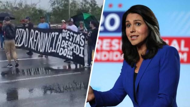 Precandidata demócrata se une a protestas en PR