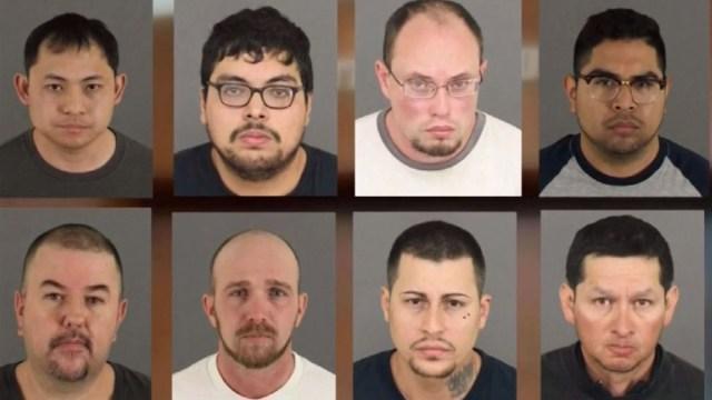 Fotos: Arrestados en caso de tráfico sexual de menores