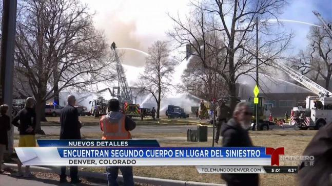 Encuentran segundo cadáver tras incendio en Denver