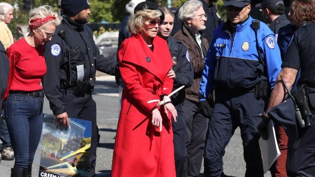 Jane Fonda es detenida por segundo viernes consecutivo