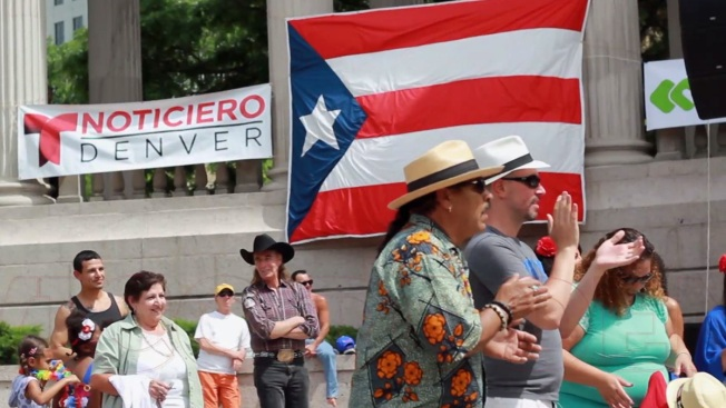 It's salsa time at the Puerto Rican festival