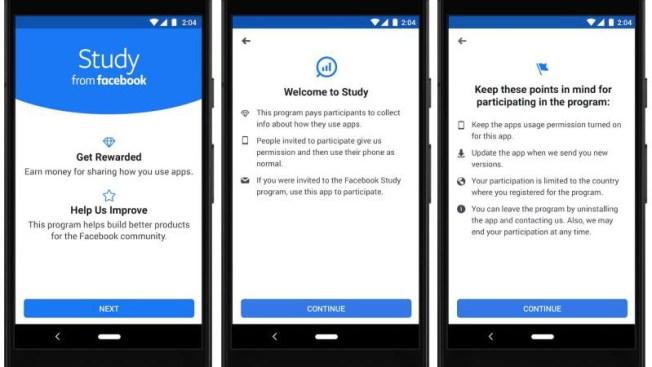 Facebook lanza aplicación para pagar a usuarios por sus datos