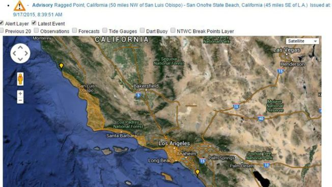 Cancelan alerta de tsunami para las costas de California