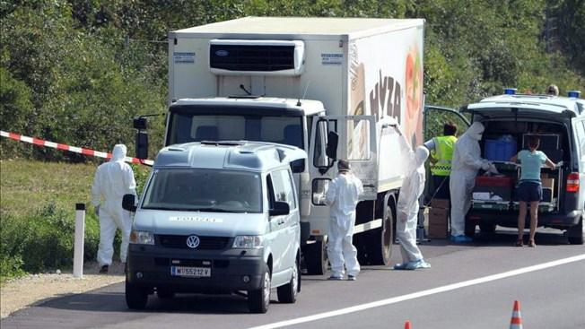 Encuentran un camión lleno de cadáveres