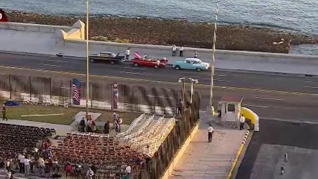 Todo listo para izar la bandera de EEUU en Cuba