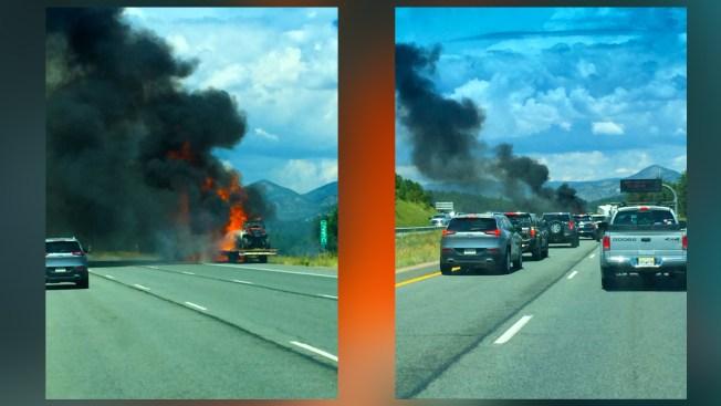 Cierra autopista I-70 por incendio