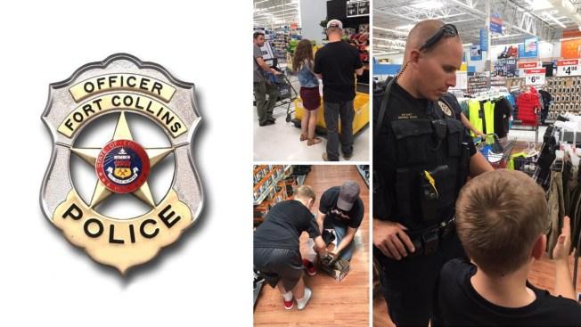 Gesto amable de la policía de Fort Collins se hace viral