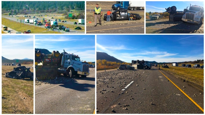 Reabre I-25 al norte en Castle Rock tras accidente