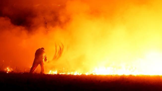 Incendio fuera de control