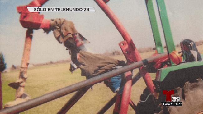 Hispano pierde brazo en máquina excavadora
