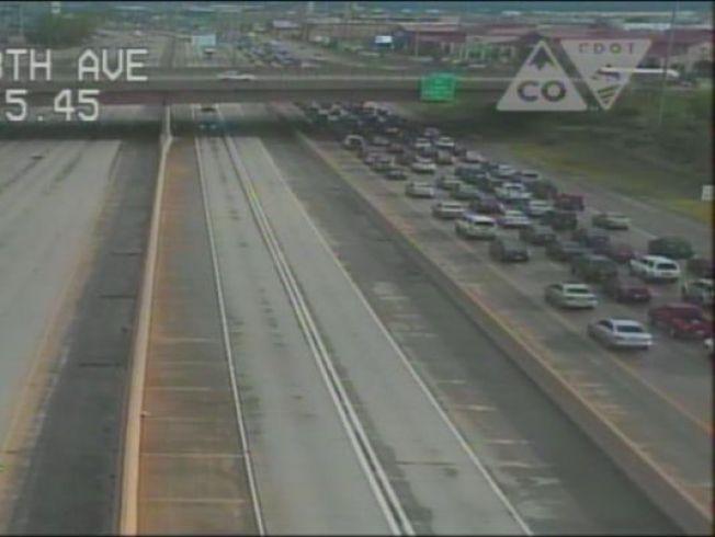 Abierta I-25 después de choque de 8 vehículos