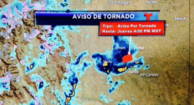 Alerta por posibles tornados, tormentas