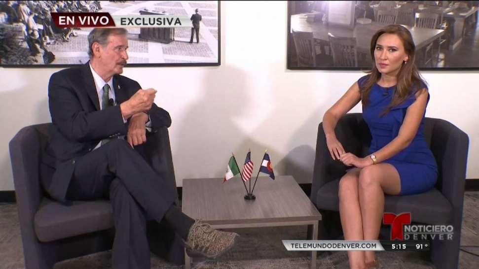 Expresidente de México Vicente Fox visita Denver